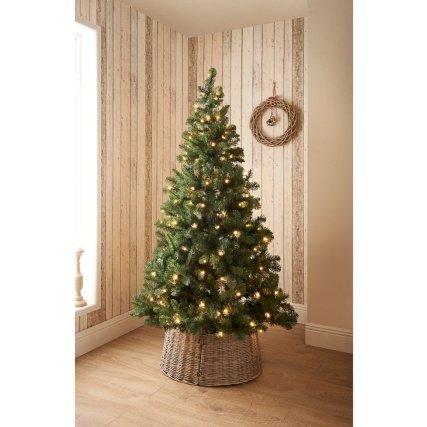 Stunning Wicker Christmas Tree Skirt Natural Christmas Decoration:  Amazon.co.uk: Kitchen & Home - Stunning Wicker Christmas Tree Skirt Natural Christmas Decoration