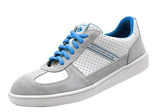 Schürr Safety Sneaker ONE Sicherheitsschuhe mit Stahlkapp in Sneaker Optik, S1 Weiß-Blau