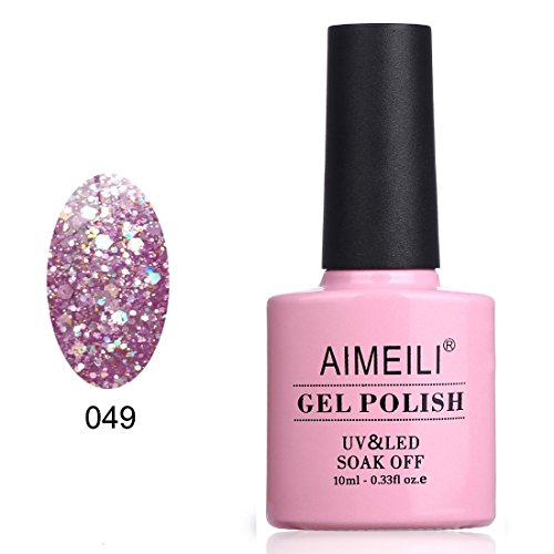 AIMEILI Soak Off UV LED Gel Nail Polish - Princess Glitter