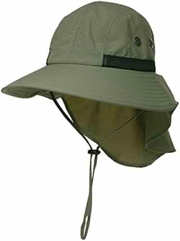ce094ec00d7d66 Jeff & Aimy Unisex Outdoor UPF 50+ Sun Hat Wide Brim Packable Fishing Hat  with