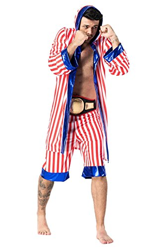 Fancycloth Men's Adult Boxer Halloween Boxing Costume Robe