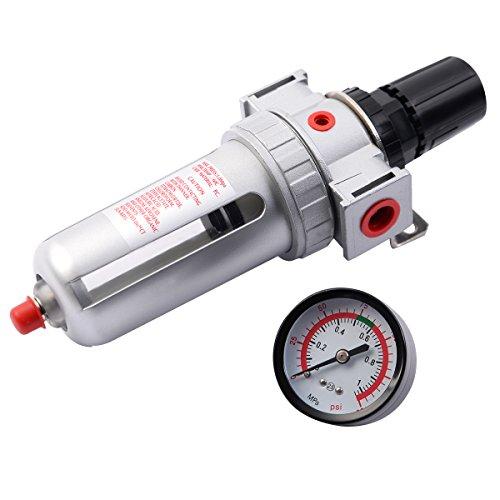 NEW SFR300 Air Pressure Regulator Filter Water Separator w/ Pressure Gauge