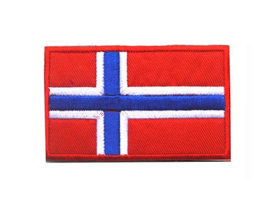 Patch Norway Flag (Backwoods Barnaby Norwegian Flag Emblem Tactical Patch with Velcro (Norway, 2