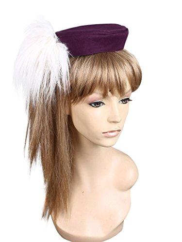Tomoe Mami Costume (Mtxc Puella Magi Madoka Magica Cosplay Tomoe Mami Battle Suit Hat Purple)