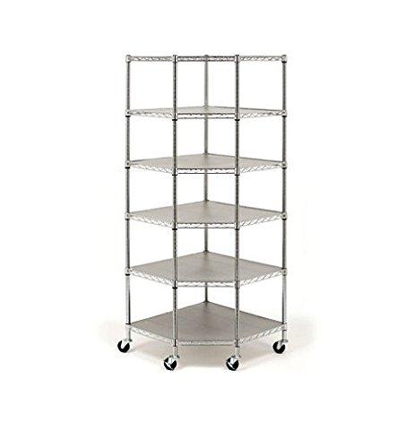 Seville Classics Heavy Duty Steel 6-Tier Corner Shelf