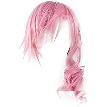 Holysteed Final Fantasy XIII_Lightning_Smoking Pink_Middle-length curly wig
