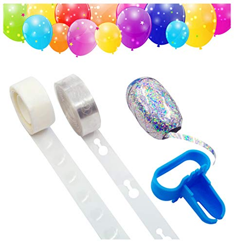 Balloon Arch Garland Decorating Strip Kit, Balloon Decorating Strip 16.5', Tying Tool, Dot Glue, Ribbon 32.8', for Party Easy to Make Balloon Garland