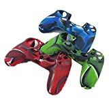 DQDF Combo Flexible Silicone Protective Case For Sony PS4 Game Controller from DQDF