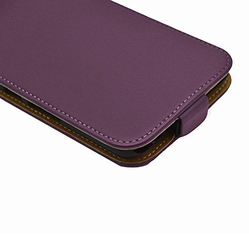 Membrane Funda Huawei P9 Lite Carcasa Negro Ultra Slim Case Flip Cover Morado