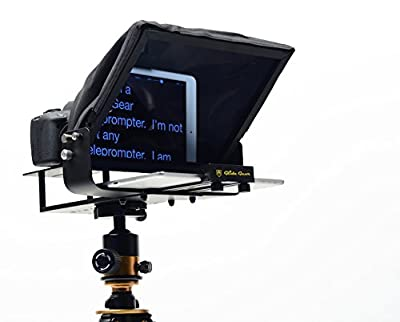 Glide Gear Universal Adjustable iPad/ Tablet/ Smartphone Teleprompter w/ Beam Splitter Glass USA COMPANY!