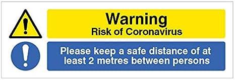 cartello autoportante Avvertenza Coronavirus Si prega di attendere qui