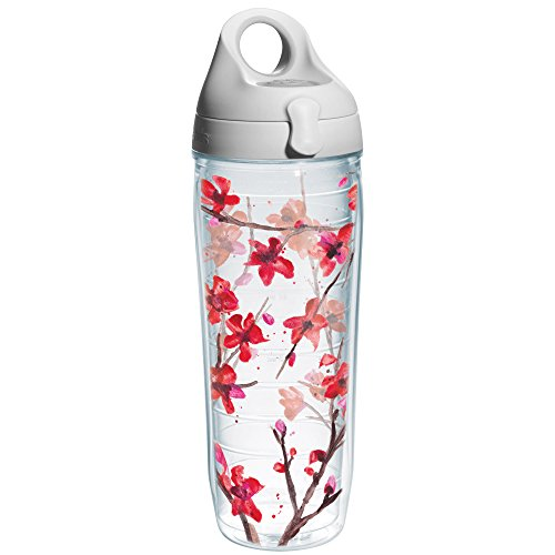 - Tervis Springtime Blossom Wrap Water Bottle with Grey Lid, 24-Ounce, Garden Party