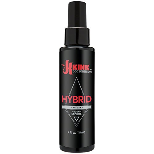 KINK By Doc Johnson - Hybrid Lubricant - Water-Based & Silicone Formula - Lubricate, Moisturize, and Ehance the Ease and Comfort of Intimate Sexual Activity - 4 fl. Oz. (118 ml)