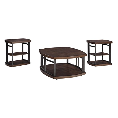 Rustic Occasional Tables (Ashley Furniture Signature Design - Challiman Occasional Table Set - 1 Coffee Table and 2 End Tables - Set of 3 - Rustic Brown)