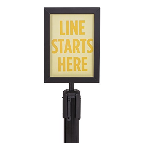 US Weight Heavy-Duty Steel Stanchion Sign Holder with Plexiglass - Us Frames