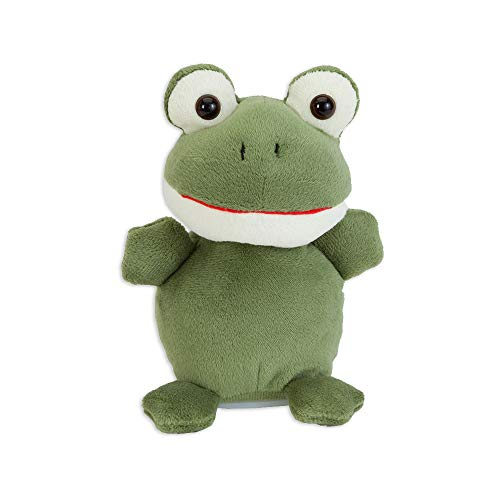 - Bits and Pieces - Animated Talking Frog Plush Toy - Interactive Toy That Repeats What You Say