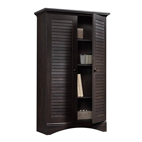 "Sauder Harbor View Storage Cabinet, L: 35.43"" x W: 16.73"" x H: 61.02"", Antiqued Paint finish"