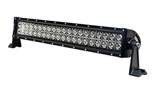 "IPCW 11120-860 21"" LED Combo Light Bar (2 Row 40 LED, 120W.8-Degree Spot Light Center +60-Degree Flood Light Outer, S1-Side Mount, Rivets) from IPCW"