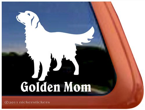 Golden Retriever Vinyl Window Sticker