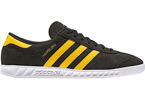 adidas Hamburg, Zapatillas para Hombre Negro (Core Black/eqt Yellow/footwear White)