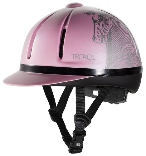 (Troxel Legacy Antiqus Helmet, Pink, Small)