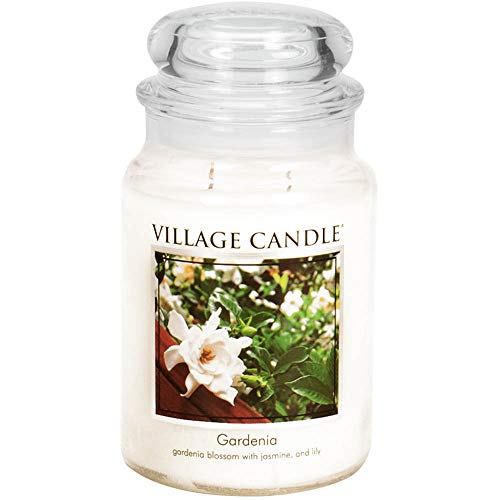 Village Candle Gardenia 26 oz Glass Jar Scented Candle, Large (Fresh Jasmine Flowers For Sale In Usa)
