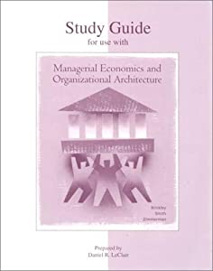 managerial economics and organizational structure What fundamental economics assumption about the nature of human how would you describe this change in organizational structure application problems.