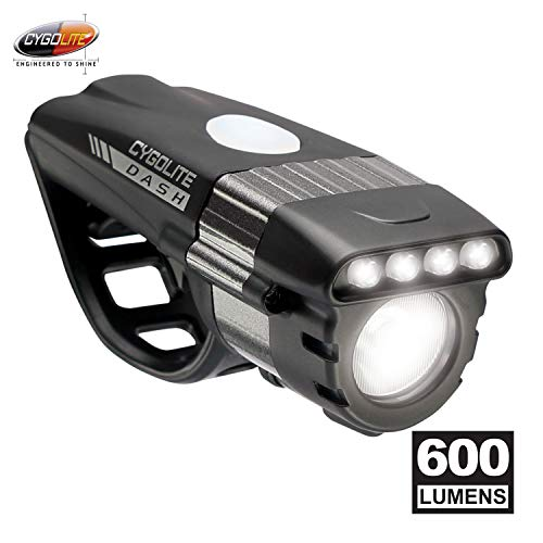 Cygolite Dash Pro- 600 Lumen Bike Light- 5 Night 3 Daytime Modes- Compact Durable- IP64 Water Resistant- Sturdy Flexible Mount- for Aero Road Commuter Bicycles