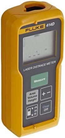 Fluke 414D Laser Distance Meter, II Class, 50m Range, +/- 2mm Accuracy