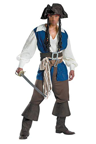 Halloween Pirate Cosplay Men's Pirate Swashbuckler Costume Buccaneer