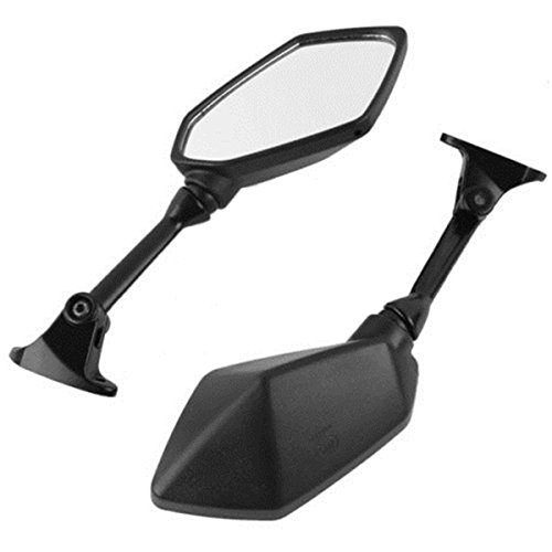 Black Side Rear View Mirrors For kawasaki ZX6R ZX-6R ZX600R 2009 2010 2011 (2010 Shift Moto Socks)
