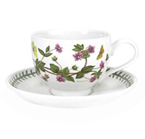 Portmeirion Botanic GardenTradtional Shape Breakfast Cup and Saucer, Set of 6 Assorted Motifs by Portmeirion