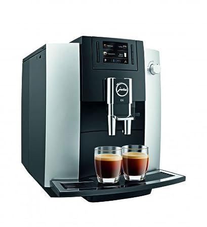 JURA E6 Independiente Máquina espresso Negro, Platino 1,9 L 16 tazas Totalmente automática