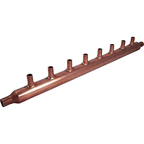 SharkBite 22790 8-Port Open Copper PEX Manifolds, 1-Inch Trunk, 3/4-Inch, 1/2-Inch Ports