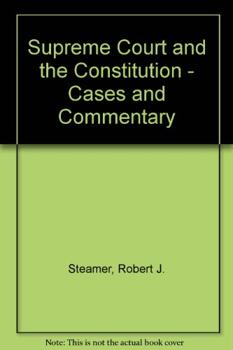 American Constitutional Law: Introduction and Case Studies