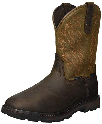 Ariat Work Men's Groundbreaker H2O Steel Toe Western Boot, Dark Brown-4, 11.5 2E US