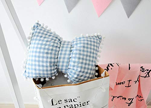 weilaike Bedside Pillow Girl Heart Pillow Bedroom Living Room Bay Window Decoration Cushion Cute Bow Bed Headrest (Cushions Seat Bow Window)