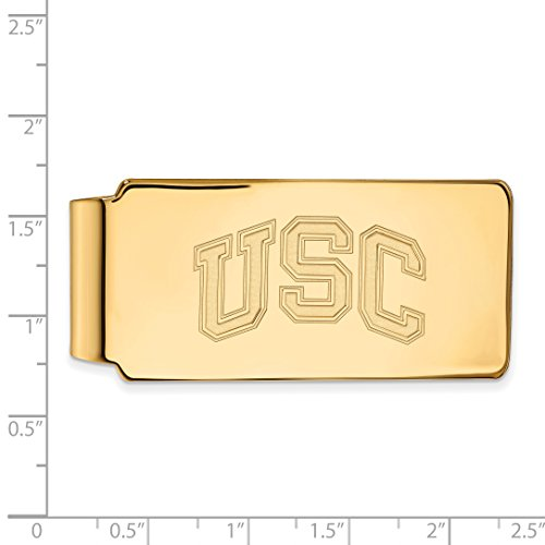 Gold Yellow Official Sterling of Plated California Money Southern w Silver 14K LogoArt USC Licensed Clip University Collegiate tI04I