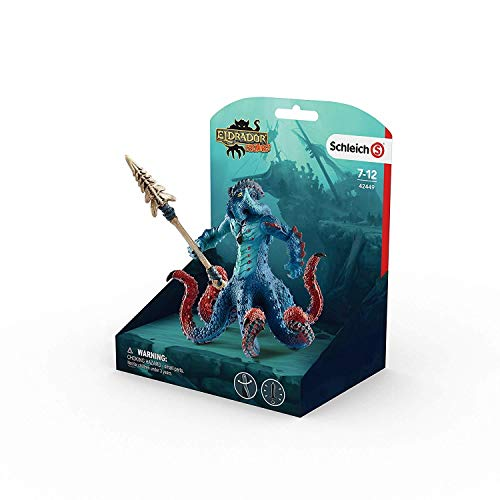 Schleich Eldrador Creatures Monster Octopus w/ Weapon (Most Dangerous Sea Creatures Of All Time)