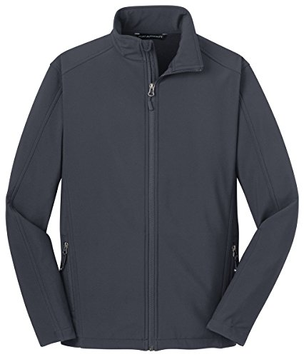 Port Authority Men's Traditional Core Soft Shell Jacket Battleship Grey (Mens Soft Shell Traditional Jacket)