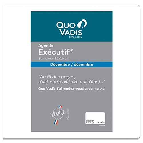 쿠오 바디스 행정관 리필 2020 년 수첩 주간지 qv014rech-pe (2019 년 11 월) / Cuobadis Executive Refill 2020 Pocketbook Weekly qv014rech-pe (start ing November 2019)