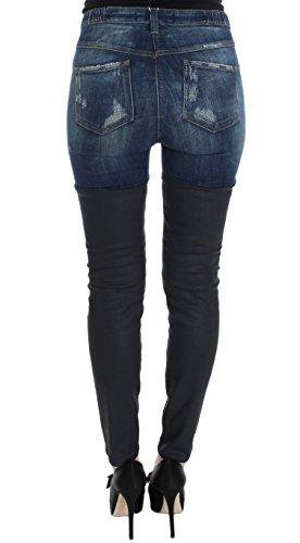Haute Bleu Coton Cavalli Taille Slim Femme Fit Jeans wnAgwfxYZS