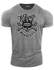 BEBAK Heren Gym T Shirt   Viking Warrior   Bodybuilding T Shirt Gym Kleding voor Heren