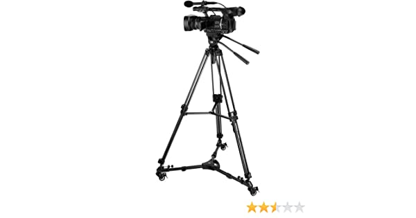 and Pan Bar Dolly Magnus VT-4000 Tripod System Kit with Fluid Video Head