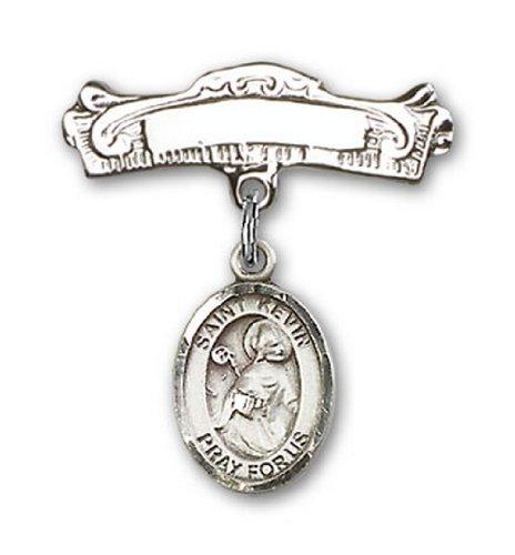 Icecarats Créatrice De Bijoux En Argent Sterling St. Kevin Charme Broches Badge Arc 7/8 X 7/8