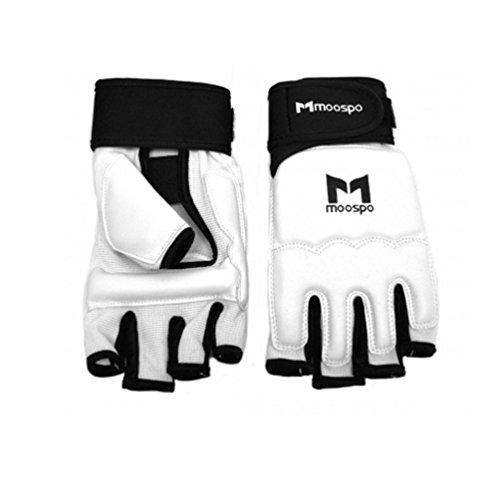 Moospo Taekwondo Hand Protector Boxing Karate Judo with Free 10ID TKD Patch Gift (2.M(7.4inch))