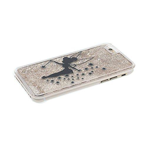 """iPhone 7 Plus Coque, iPhone 7 Plus étui Cover 5.5"""", Bling Bling Glitter (Petite fée Cute) Fluide Liquide Sparkles Sables, iPhone 7 Plus Case, Shell anti- chocs et Bouchon anti-poussière"""