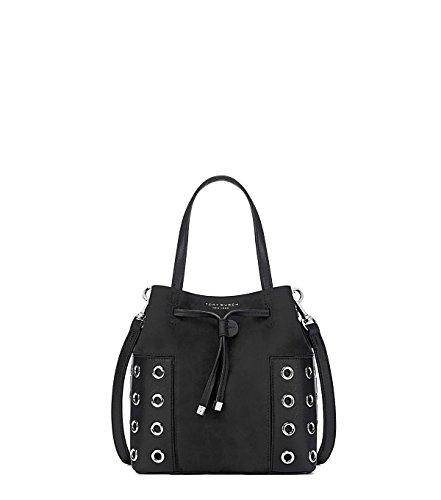 Tory Burch Women's Block T Grommet Nano Bucket Bag, Black...