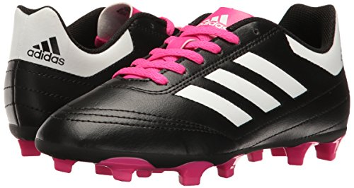 Pictures of adidas Kids' Goletto VI J Firm Ground Black/White/Shock Pink 4