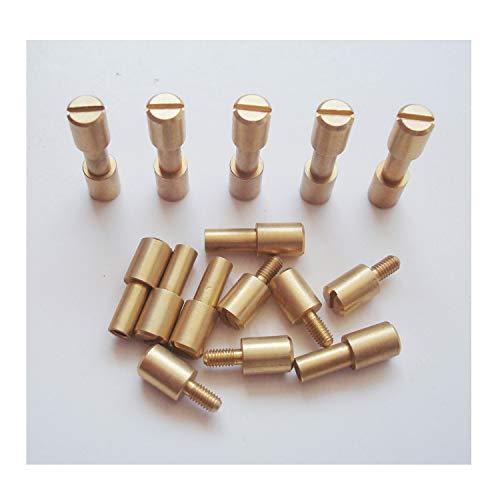 Rivet Brass Handle - Corby Bolts Fasteners,10 Sets/lot,EDC Knives Maker Screws,Tactics Lock Rivet,DIY Knife Handle Fastener Revits (Brass)